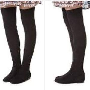 JOIE Hayleigh Black OTK Suede Stretch Boots
